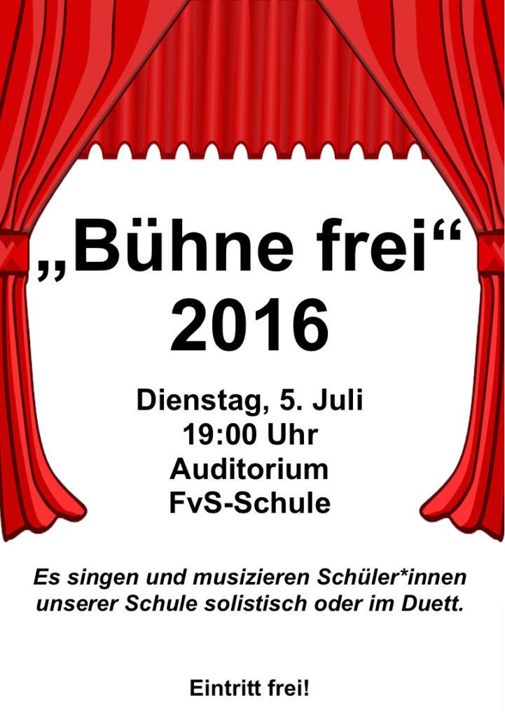 Bühne frei 2016 - Plakat - NEU